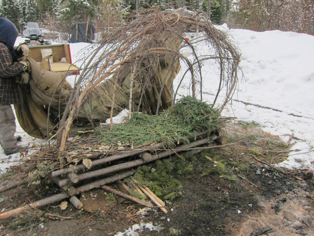 The frame for a portable Supershelter