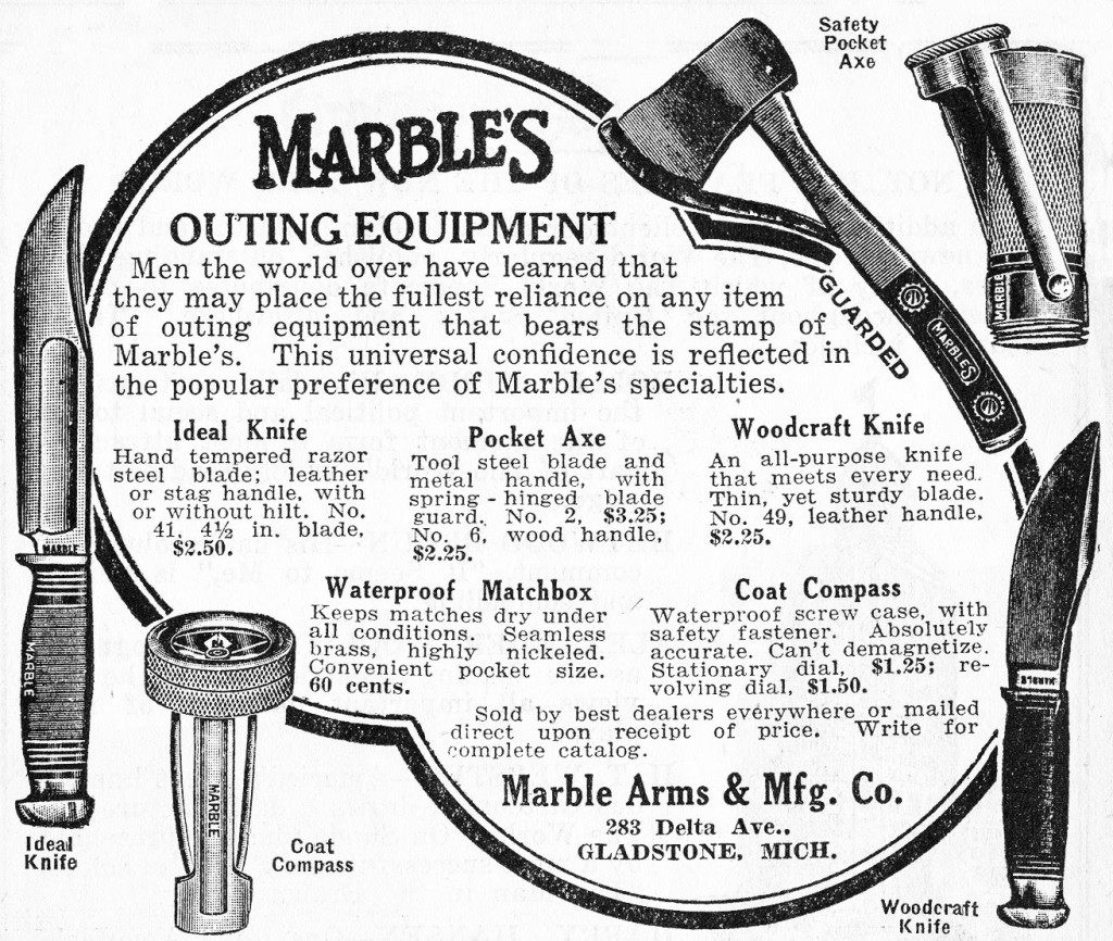 vintage marbles outdoor gear advertisement