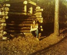 My first trapper cabin, 14 years old.  (Photo: Merritt R Wentz)