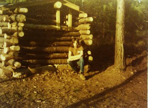My first trapper cabin, 14 years old.  (Photo: Merritt R Wentz)
