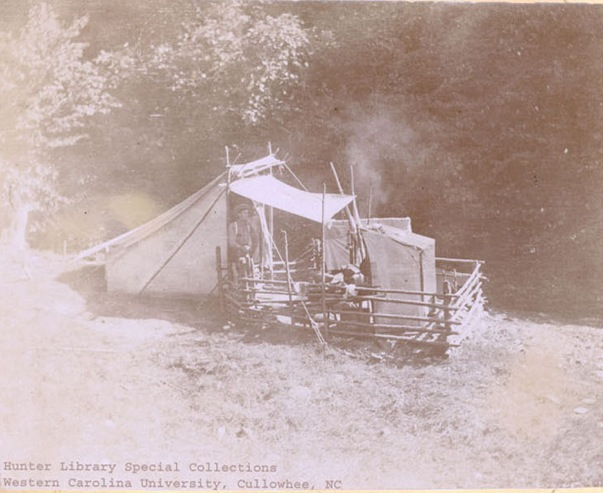Camp Toco, Kephart's fixed camp in the Smokies.