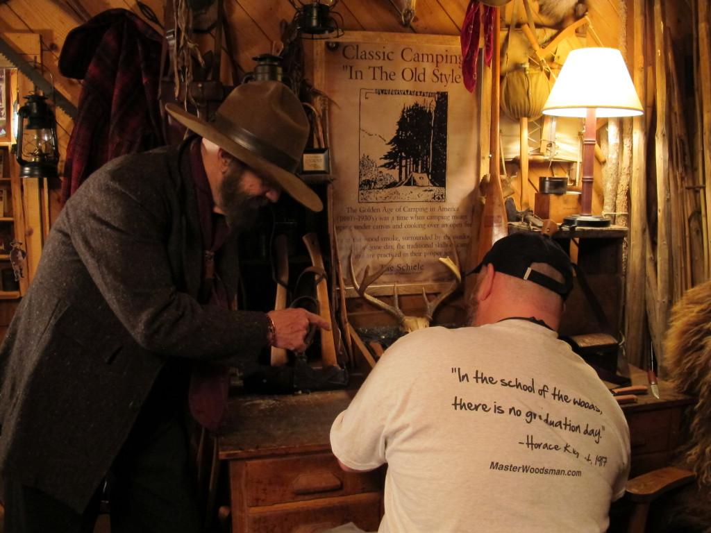 Getting a lesson from Steve Watts at Kamp Kephart.