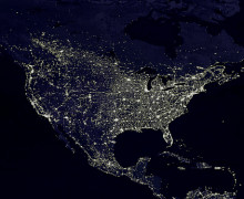 Light pollution.  (Photo: NASA)