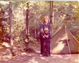 Mom could rough it too. We camped not just from the VW Bug. Many trips were from our sailboat and raft as well.  After several days of rafting, Dad would hitchhike back to the put-in while Mom and I would wait.