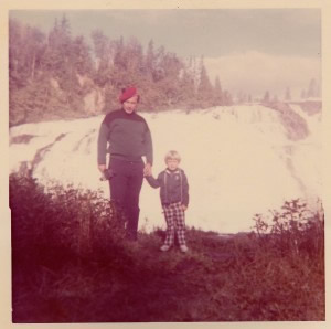 I think I was five on this camping trip.  What a water fall!