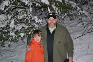 Me and my son in the Cohutta Wilderness. And for those that know me, yes I was wearing shorts and sandals.