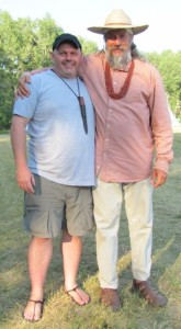The author (left) and Survivorman consultant David Holladay.