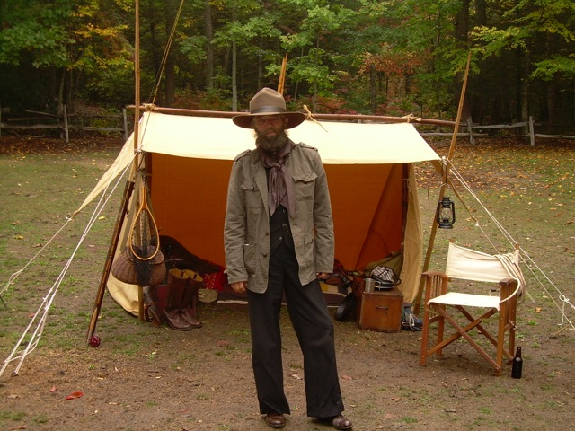 The author with his Whelen Lean-to. & In Praise Of The Whelen Lean-To by Steven M. Watts | Master Woodsman