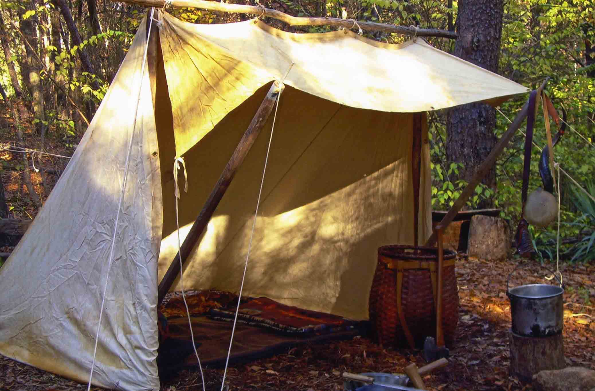 Sides down configuration. & In Praise Of The Whelen Lean-To by Steven M. Watts | Master Woodsman