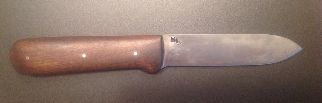 The Author's well-worn Kephart knife from ML Knives.