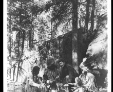 Ernest Thompson Seton reintroducing friction fire to Native Americans.