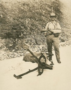 Charles. A. Sheldon with Caribou, circa 1910. Photo courtesy of Smithsonian Institution
