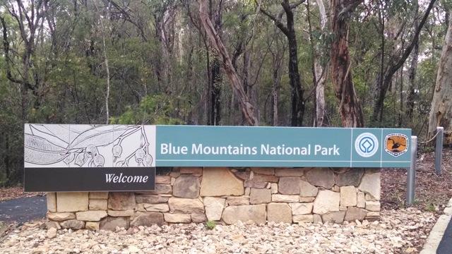 Blue Mountain Park Sign