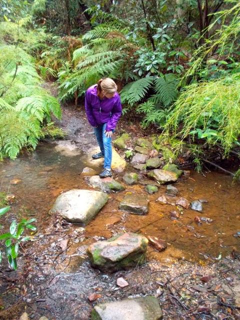 Crossing Red Hands Creek.