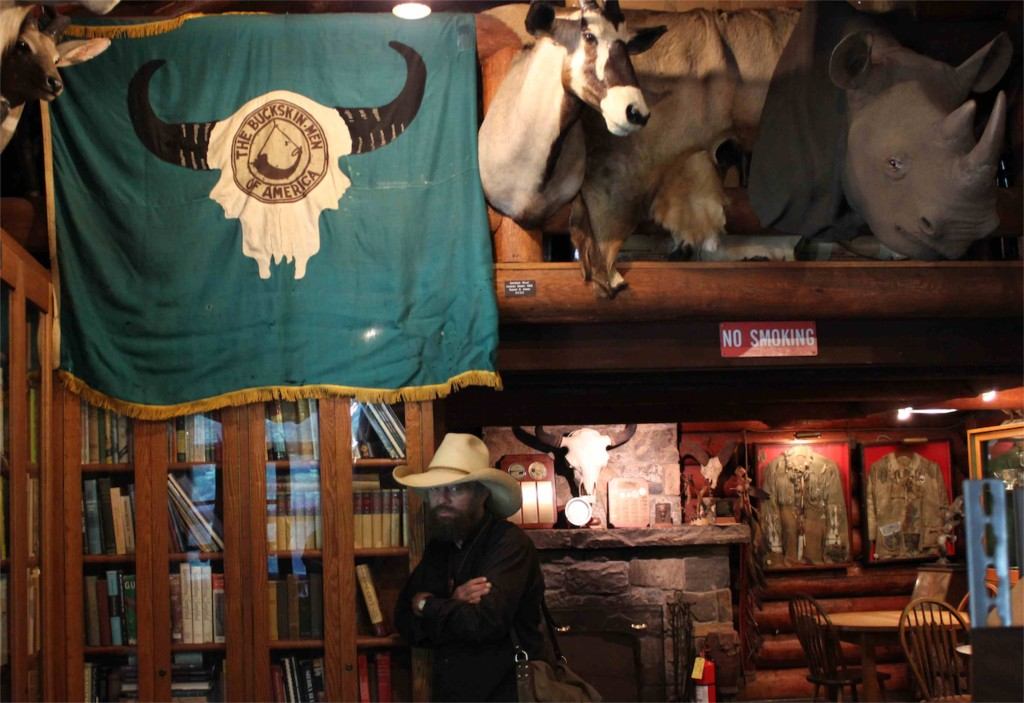 Daniel Carter Beard original Buckskin Men flag at the Camp-Fire Club of America.