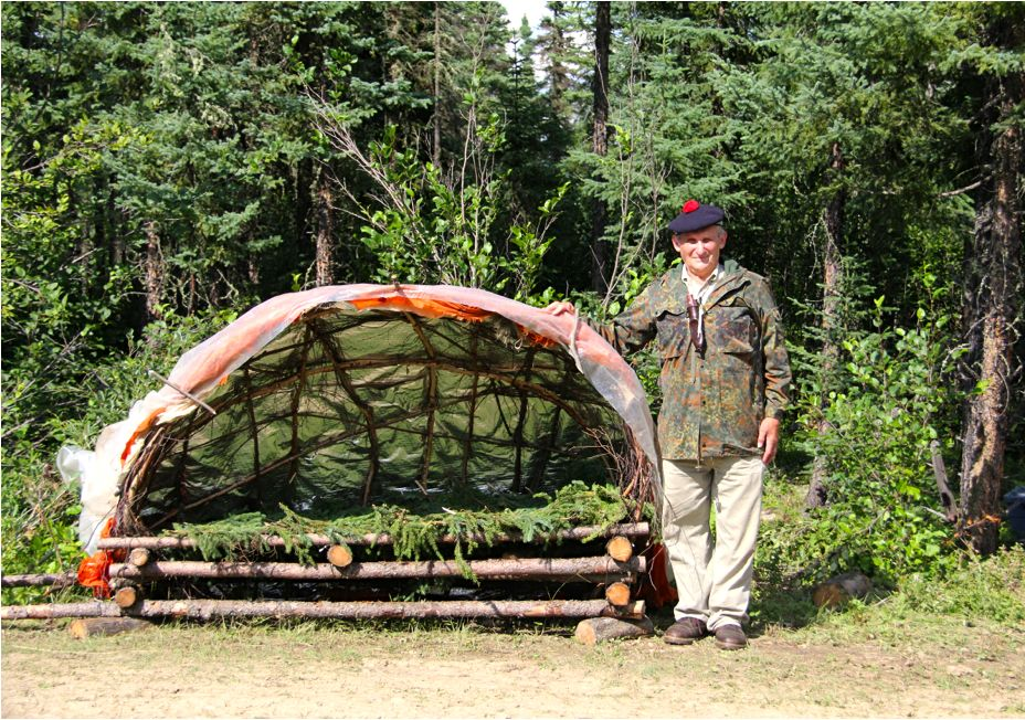 Mors with open Supershelter attached to movable bed.