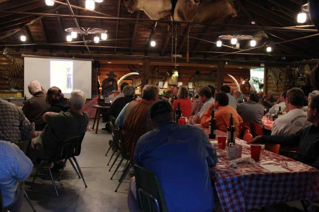 """Steve Watts presenting a """"Frontier Connection"""" to Classic Camping of which many CFCA member were instrumental."""
