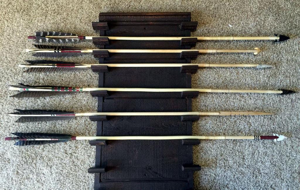 Completed arrows.