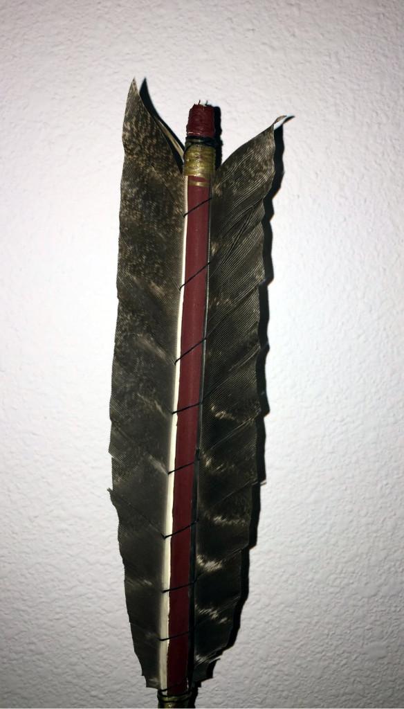 silk wrapping arrow fletching