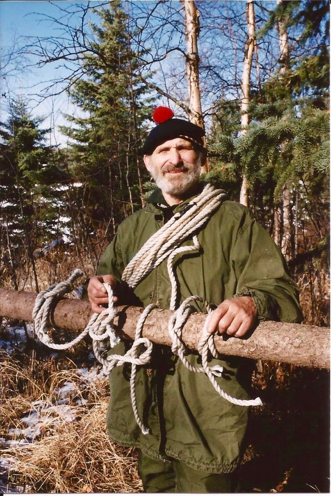 Mors as he stands for a cover shot, presenting his Bush Knots DVD, showcasing the most common and useful knots based on solid field experience.