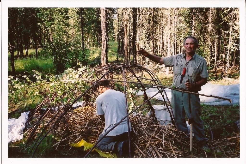 """Here, Mors is instructing on another one of his accomplishments, the """"super shelter."""""""